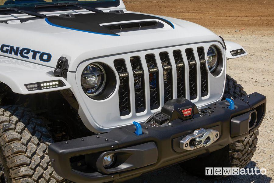 Griglia anteriore Jeep Magneto BEV concept elettrico