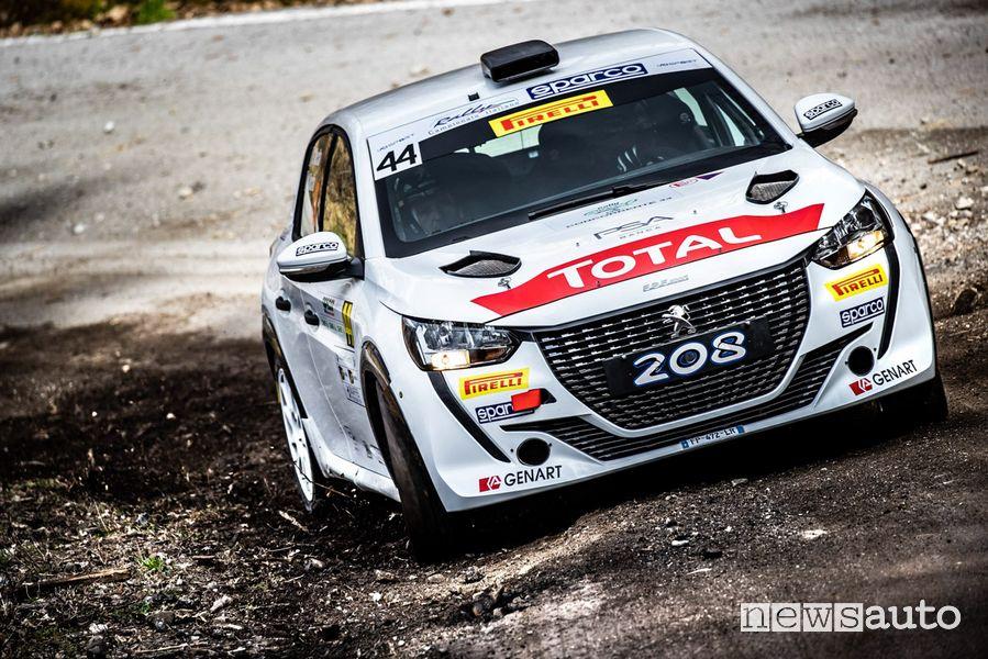 CIR Peugeot 208 Rally4 (Nucita) al Rally il Ciocco 2021