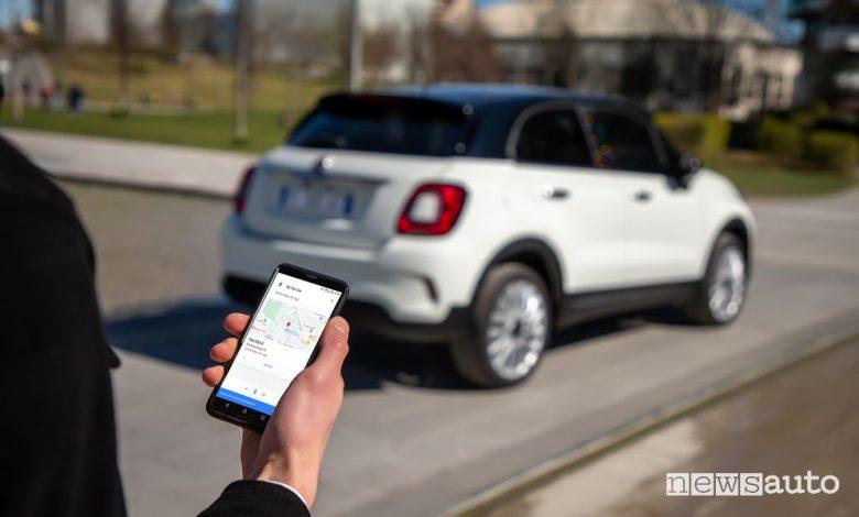 Controllo da remoto Mopar Connect Fiat 500X Hey Google