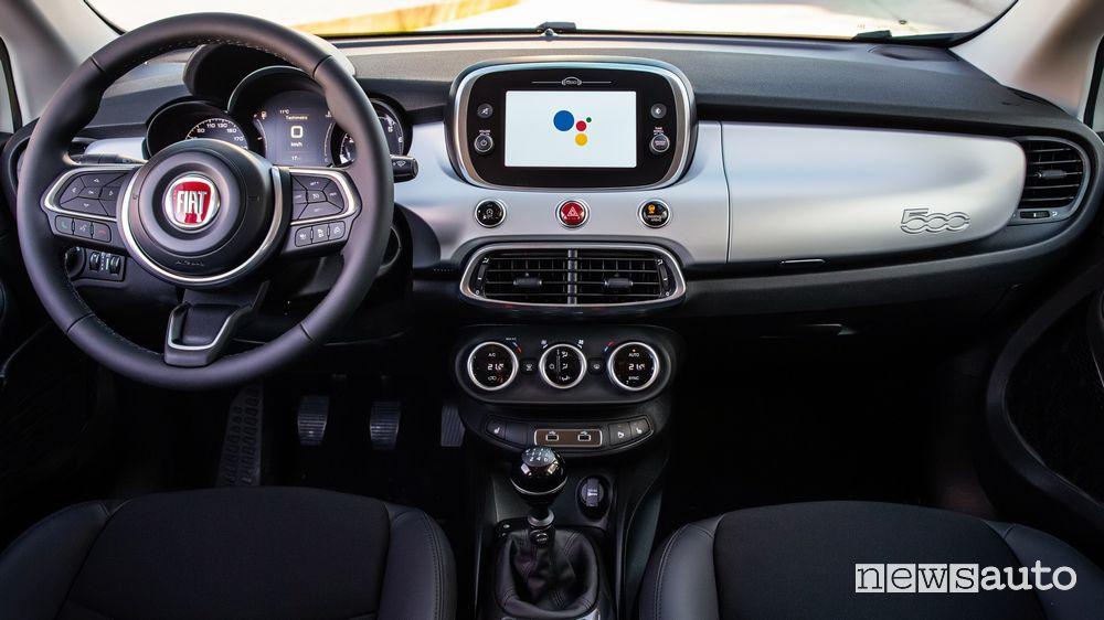 Plancia strumenti abitacolo Fiat 500X Hey Google