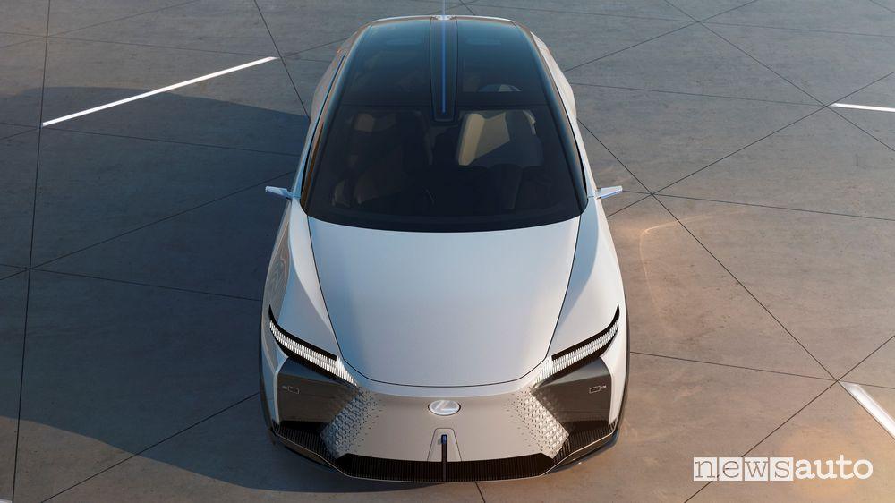 Vista frontale Lexus concept LF-Z Electrified