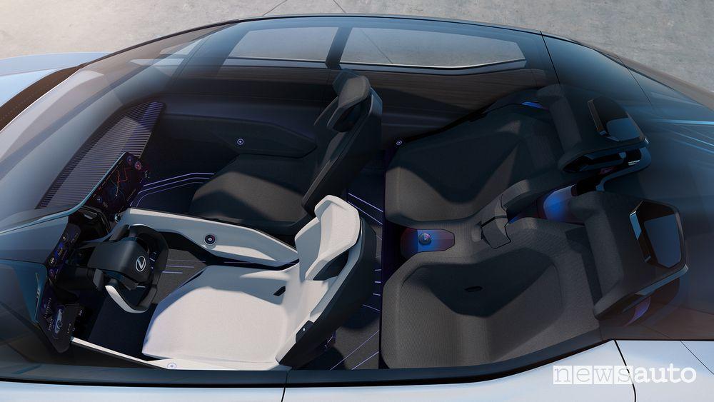 Abitacolo Lexus concept LF-Z Electrified