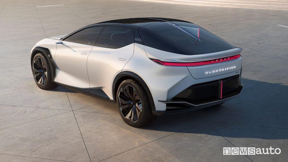 Vista posteriore Lexus concept LF-Z Electrified