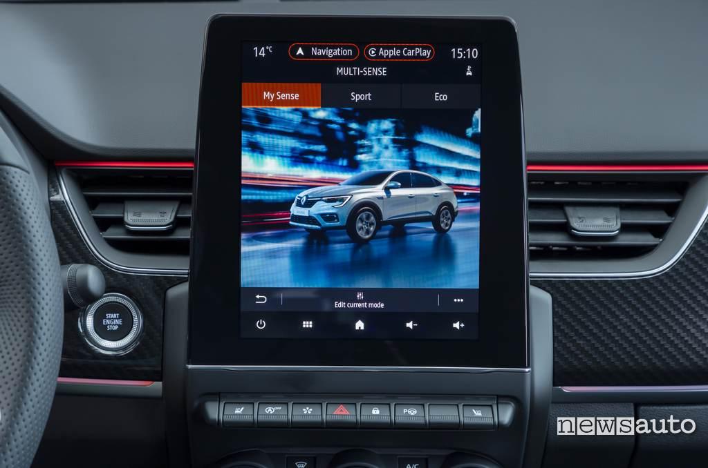 "schermo 9,3"" sistema EASY LINK Renault Arkana"