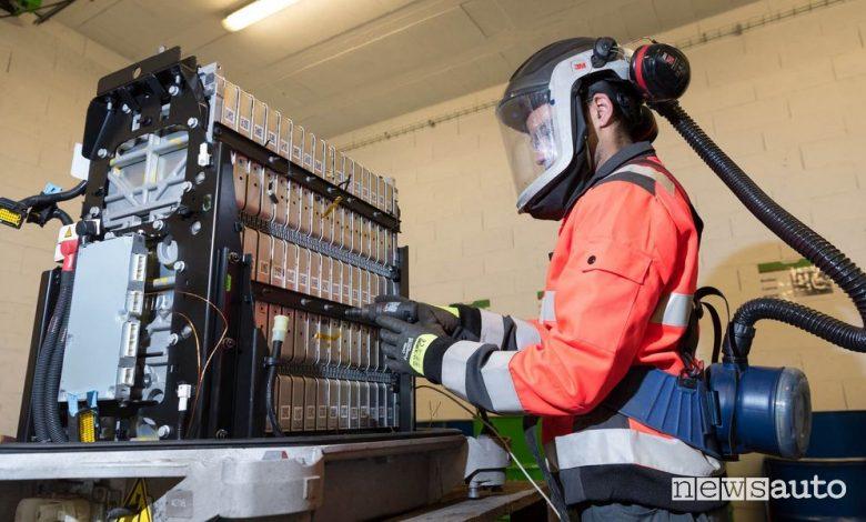 Riciclo batterie auto elettriche, smaltimento e riutilizzo con Renault
