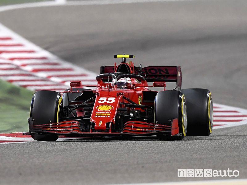 Carlos Sainz debutto in Ferrari nel Gp del Bahrain 2021