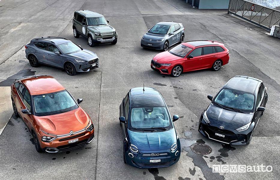 Le sette finaliste del Premio Auto dell'Anno vinto dalla Toyota Yaris