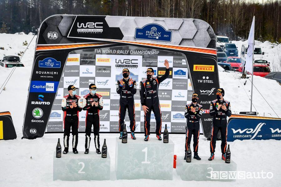 WRC podio Rally Artic Finlandia 2021
