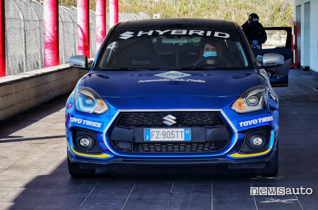 Box Circuito Viterbo con Suzuki Swift Sport Hybrid al Rally Italia Talent 2021