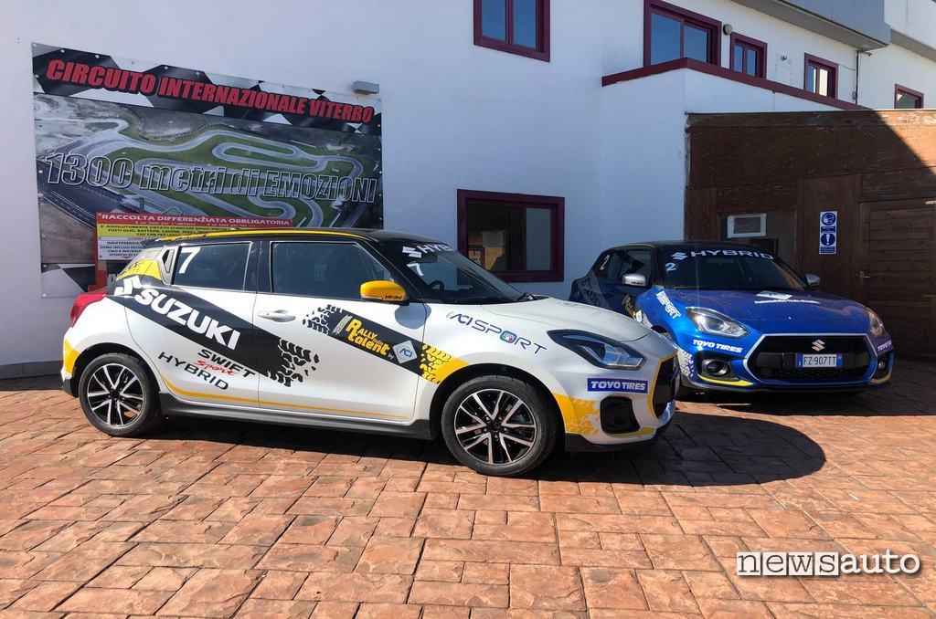 Suzuki Swift Sport Hybrid presso il circuito di Viterbo al Rally Italia Talent 2021