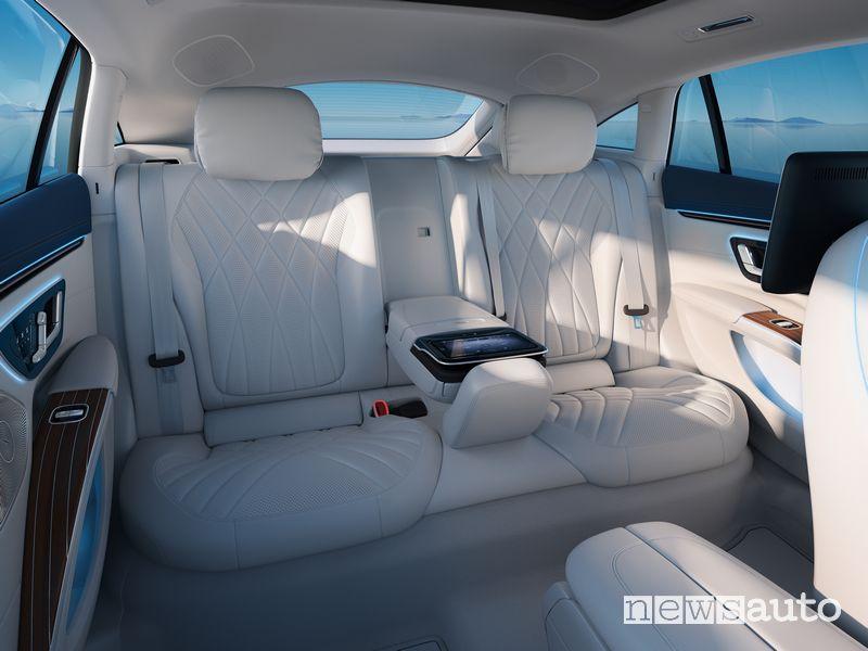 Sedili posteriori abitacolo Mercedes-EQ EQS elettrica