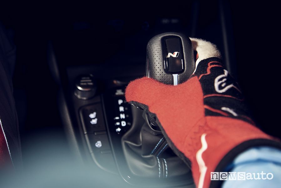 Leva cambio automatico N DCT nuova Hyundai Kona N