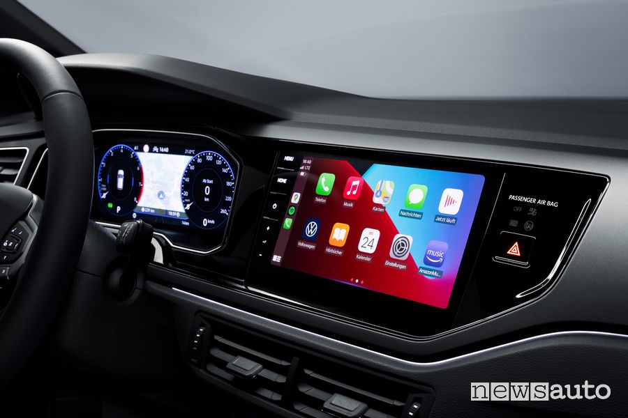 Infotainment Apple CarPlay nuova Volkswagen Polo R Line