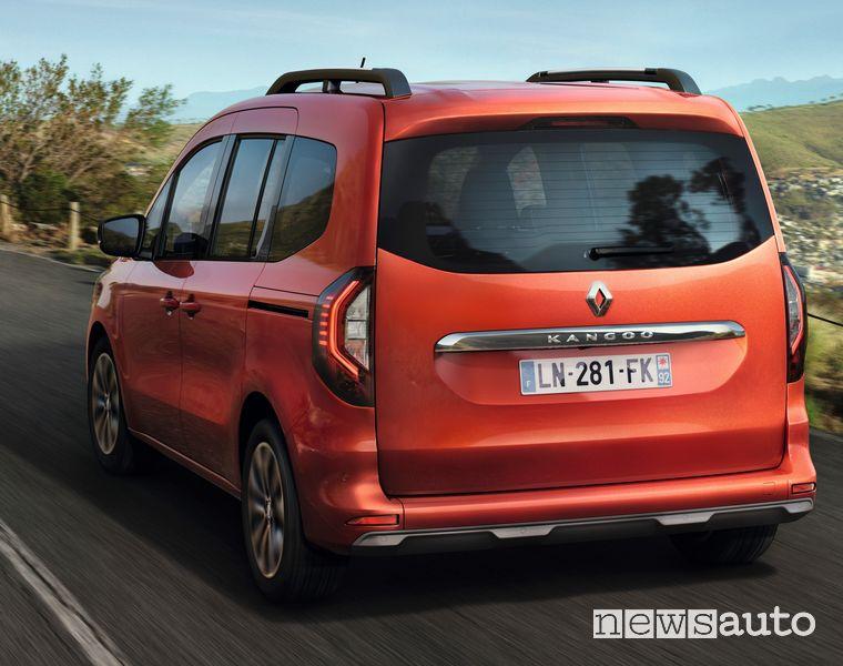 Vista posteriore nuovo Renault Kangoo con portellone
