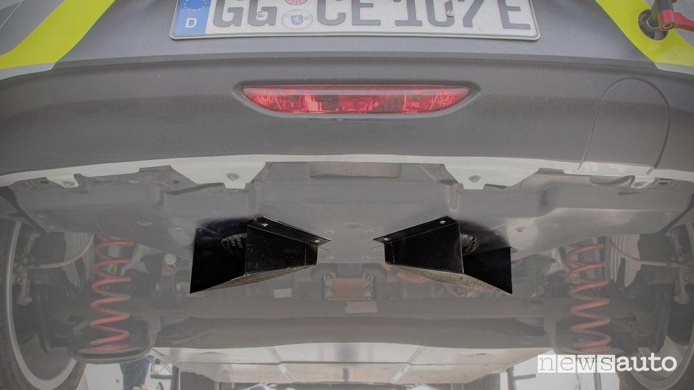 Sound system sulla Opel Corsa-e Rally prevede due altoparlanti da 400 W