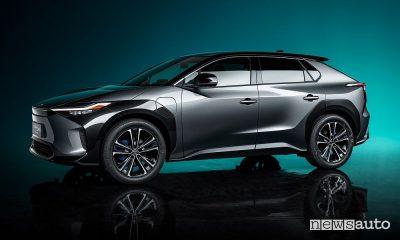 Vista laterale Toyota bZ4X Concept