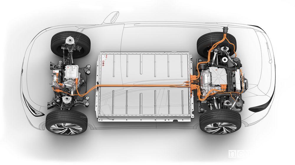 Batteria da 77 kWh Volkswagen ID.4 GTX