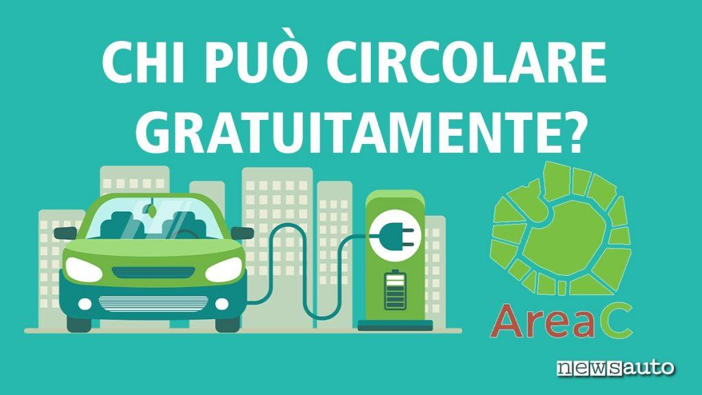 Area C Milano auto ibride accesso gratuito