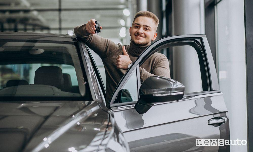 neopatentato alla guida di un'auto con noleggio a lungo termine