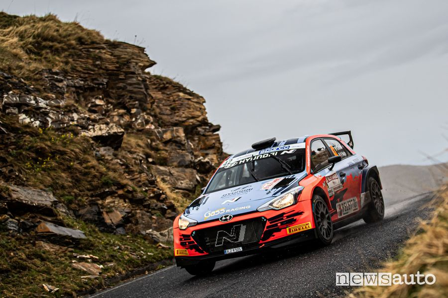 Craig Breen, Paul Nagle (Hyundai I20 R5 #42) al Rally di Sanremo 2021