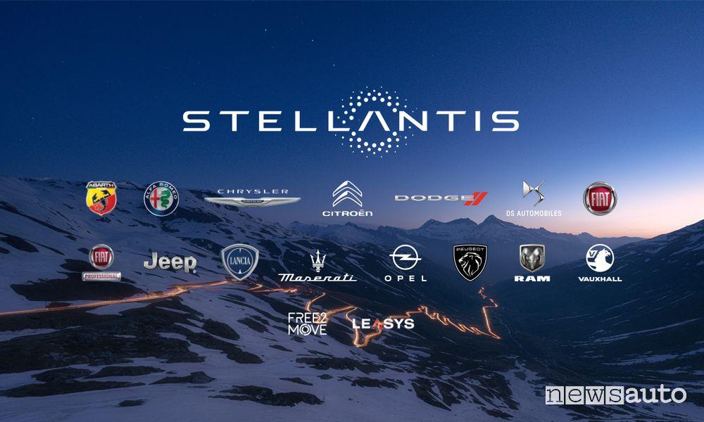 Struttura Stellantis manager Peugeot, Citroën, DS, Opel, Fiat, Alfa Romeo, Jeep, Abarth e Lancia