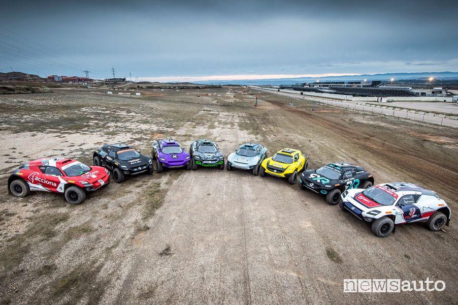 SUV elettrici da corsa dell'Extreme E