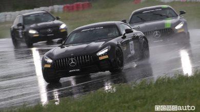 Giri veloci AMG Driving Academy sotto la pioggia a Magione