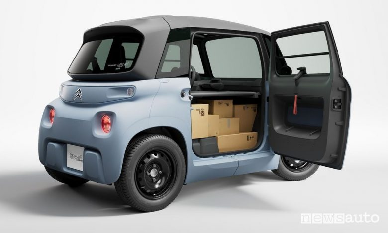 Nuova Citroën My Ami Cargo per i professionisti