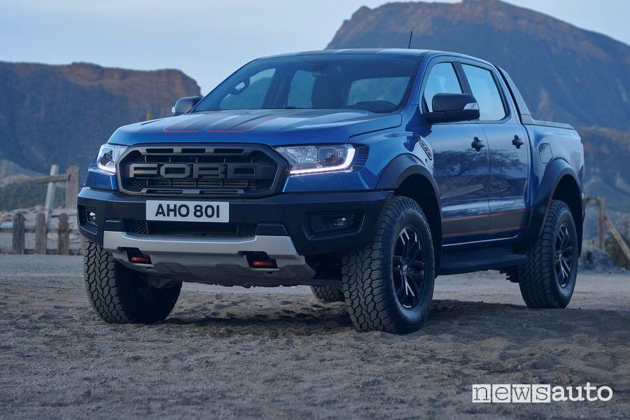 Vista di profilo Ford Ranger Raptor Special Edition