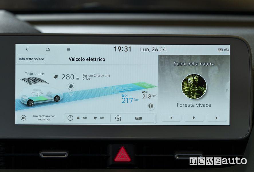 Info recupero energia dal tetto solare nuova Hyundai Ioniq 5