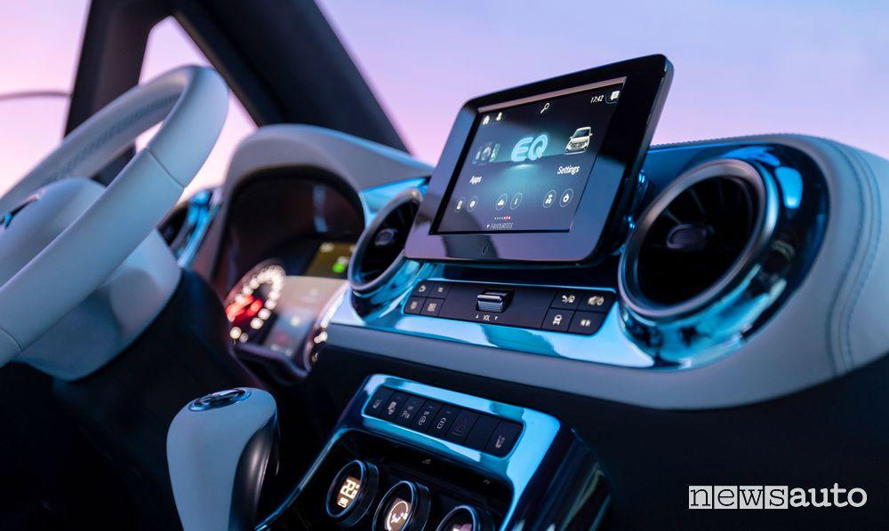 Display infotainment MBUX Mercedes-EQ Concept EQT
