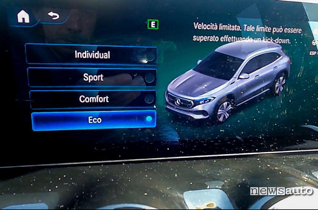 Modalità di guida Mercedes EQA 250 Sport