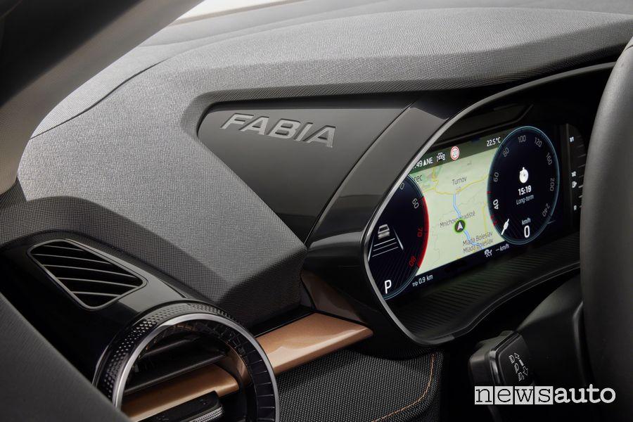 Quadro strumenti abitacolo nuova Škoda Fabia