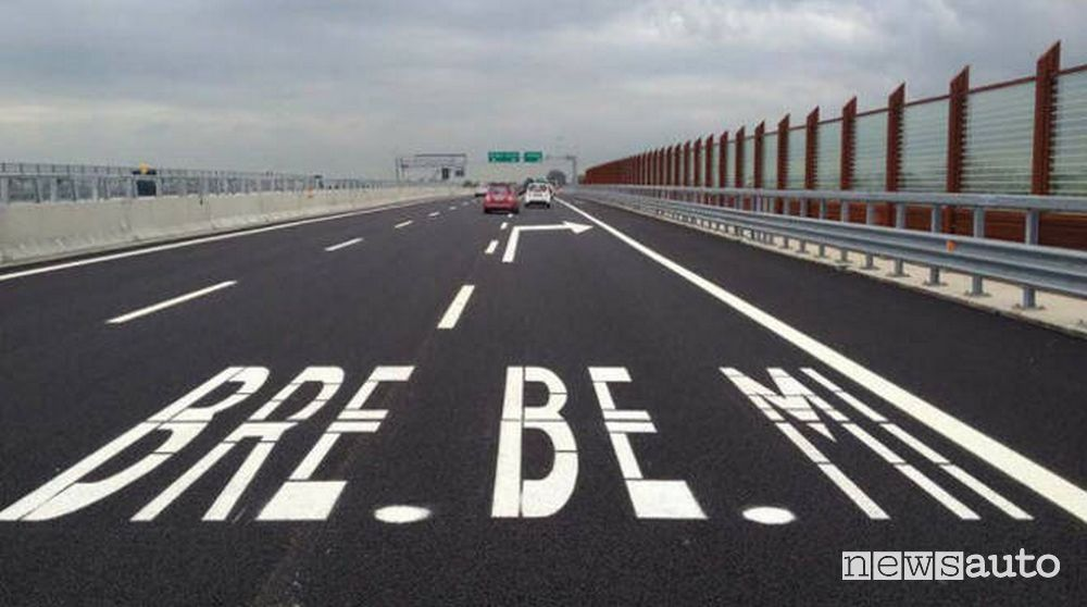 Ricarica wireless auto elettriche Autostrada Brebemi uscita Chiari Ovest