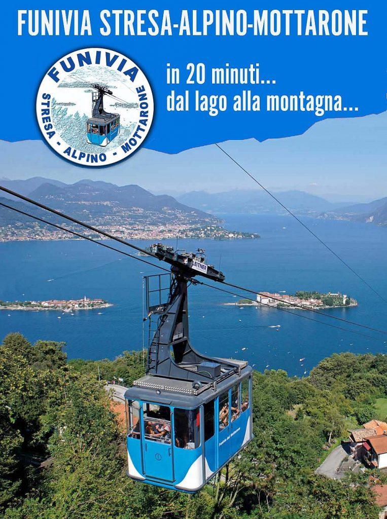 Una immagine della cabina sulla funivia Stresa Alpino Mottarone