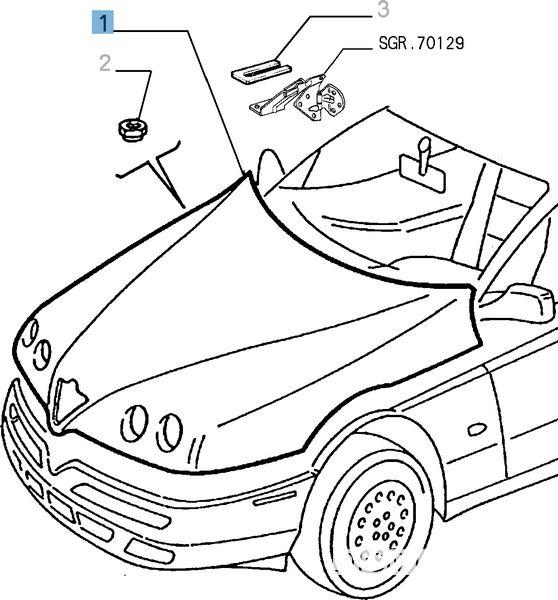 Ricambi originali cofano per Alfa Romeo GTC Heritage Parts