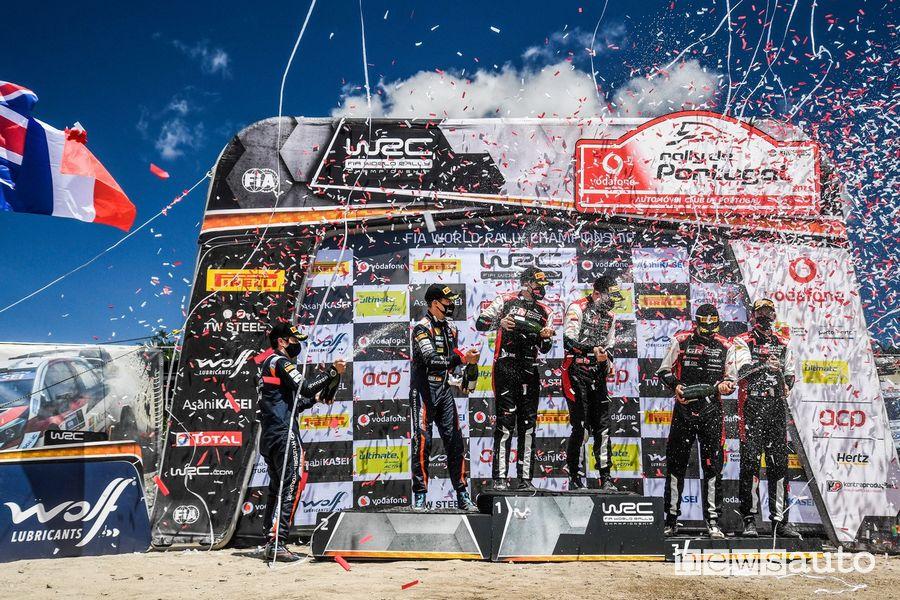 Podio finale Rally Portogallo 2021