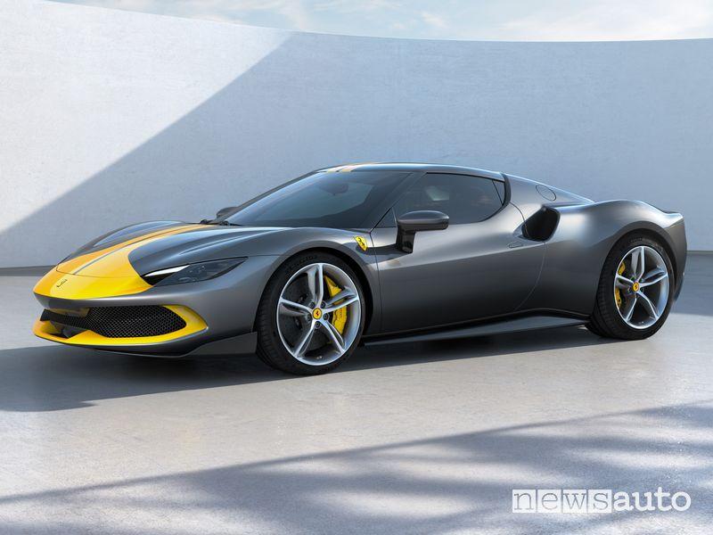 Vista di profilo Ferrari 296 GTB Assetto Fiorano