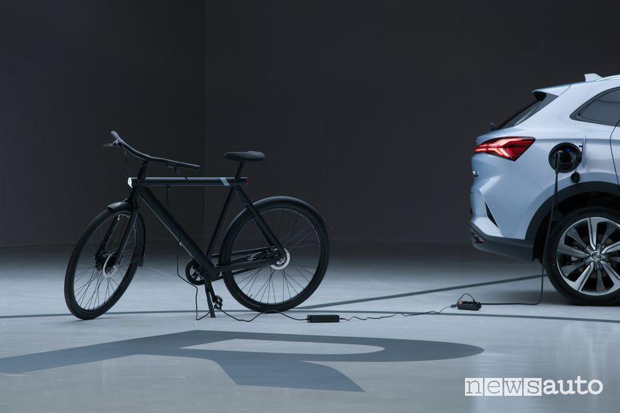 MG Marvel R Electric ricarica una bike elettrica