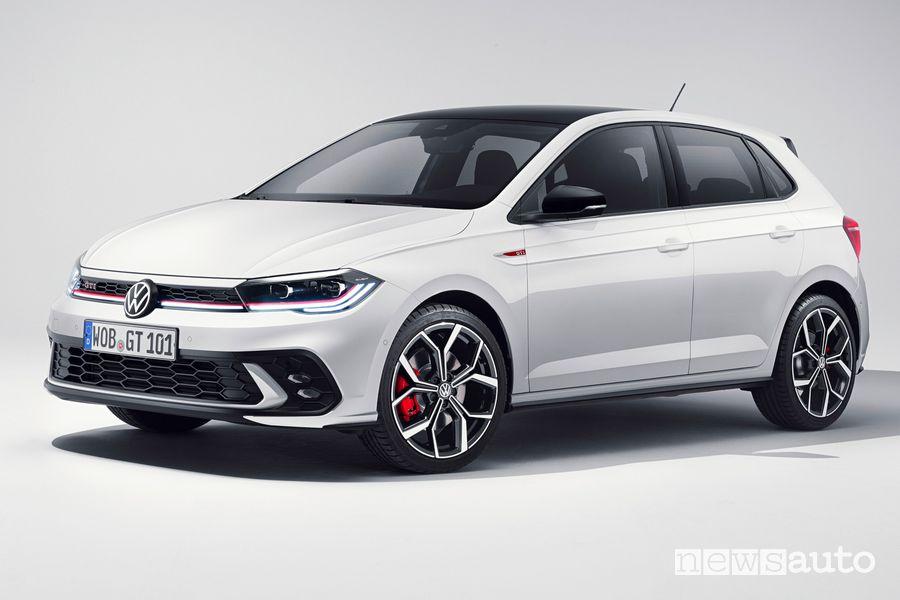 Vista di profilo nuova Volkswagen Polo GTI