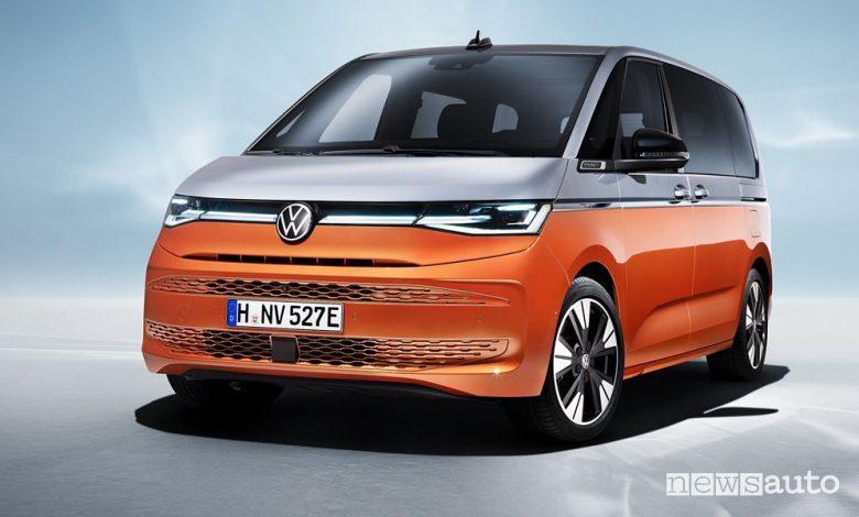 Vista di profilo Volkswagen Multivan Bulli