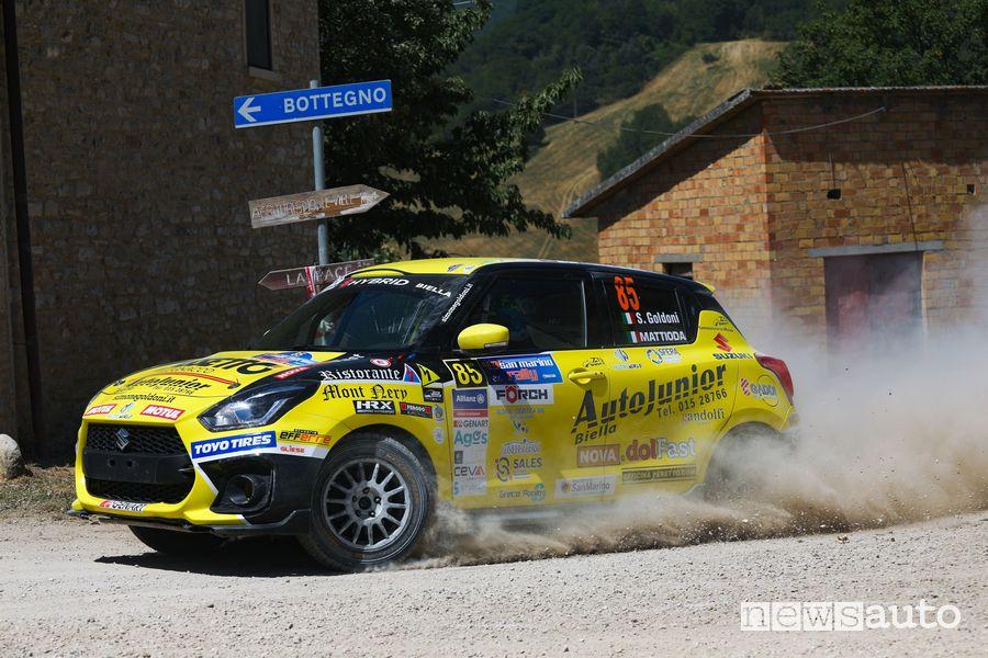 Simone Goldoni su Suzuki Swift Sport Hybrid al Rally di San Marino 2021