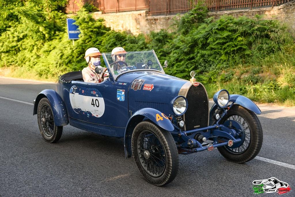 Silvia Marini e Lucia Filippelli su una Bugatti T40 del 1929 le vincitrici della Coppa delle Dame 2021