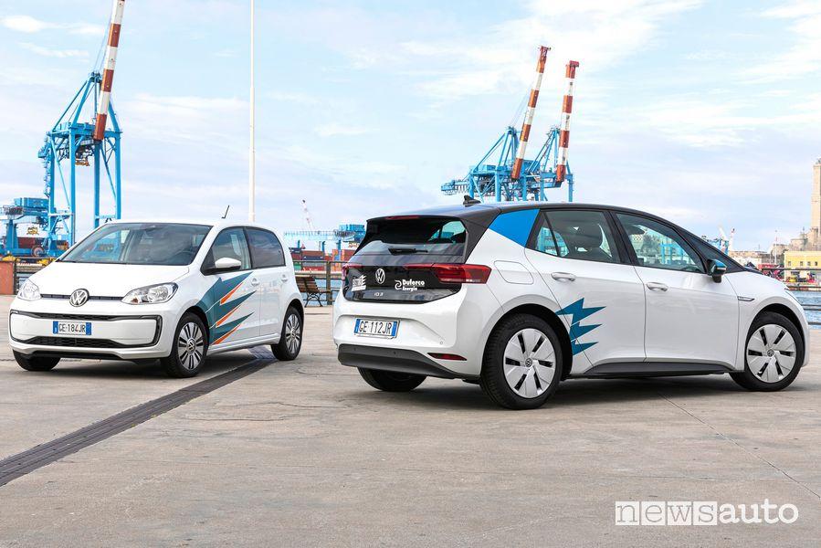 Elettra Car Sharing servizio di noleggio condiviso a Genova con auto elettriche Volkswagen e-up! e ID.3