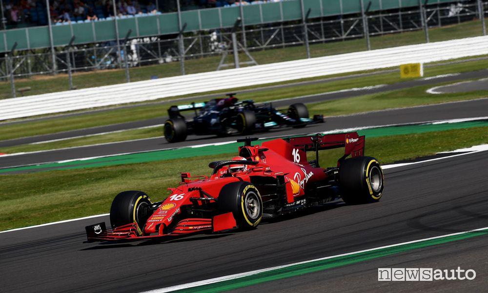 F1 2021 Gp Gran Bretagna gara Ferrari Leclerc