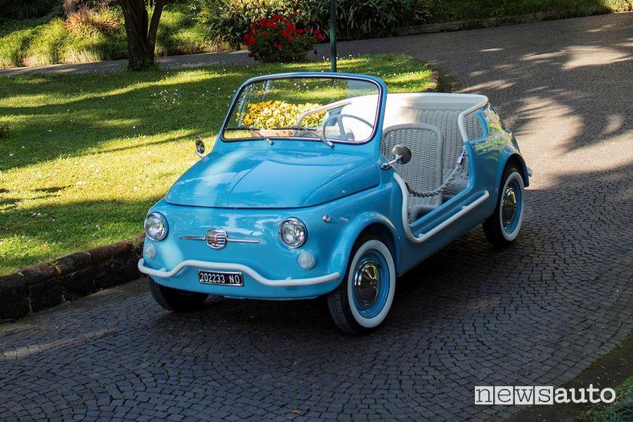 Vista di profilo Fiat 500 Jolly Icon-e Spiaggina elettrica