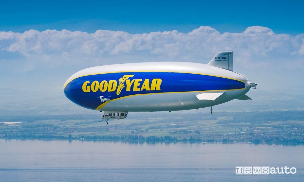 Dirigibile Goodyear nei cieli di Milano e Monza