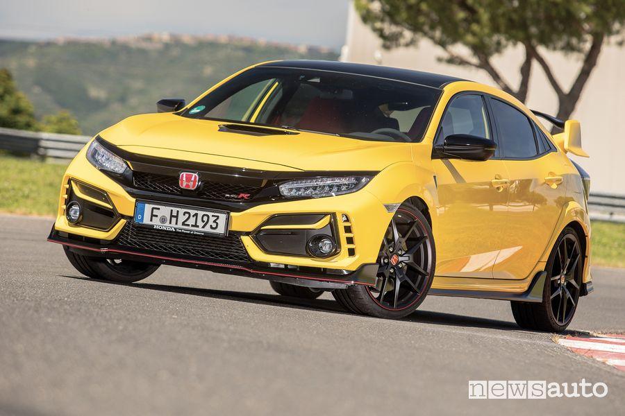 Vista di profilo Honda Civic Type R Limited Edition