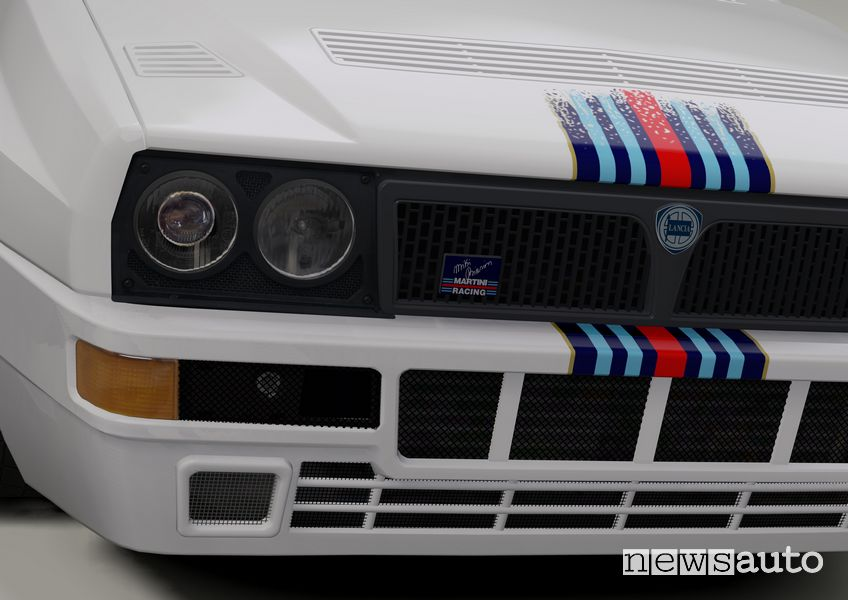 Griglia anteriore Lancia Delta EVO 3 Miki Biasion livrea Martini bianca