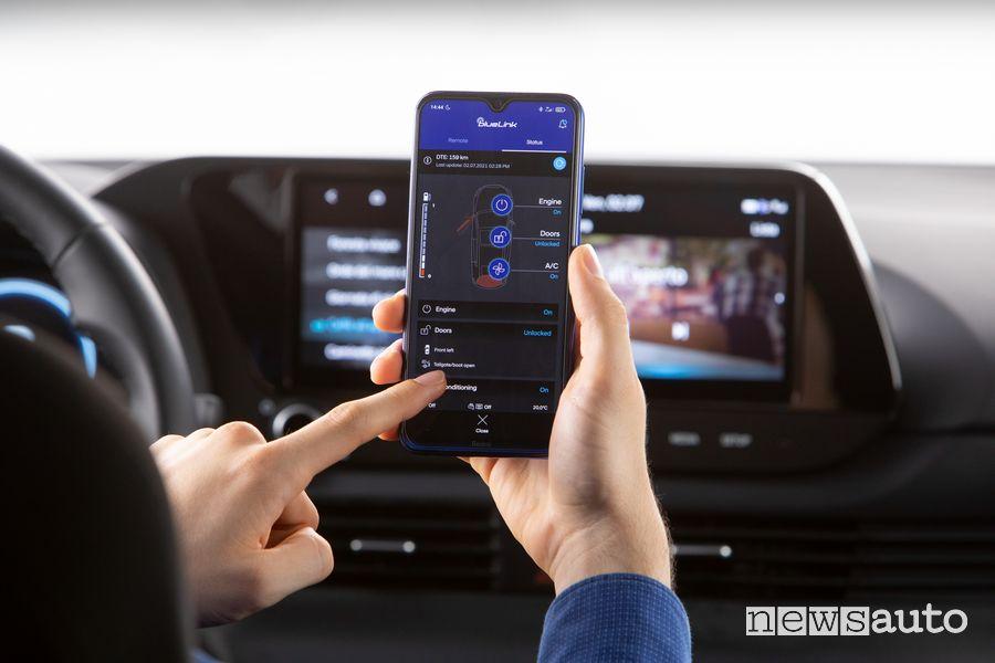 App BlueLink infotainment nuova Hyundai Bayon